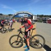 Matt Champion steps up to the podium at his first Sea Otter Classic, 2019