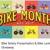 King City: Free bike locks and bike-ped safety gear, and safety presentation