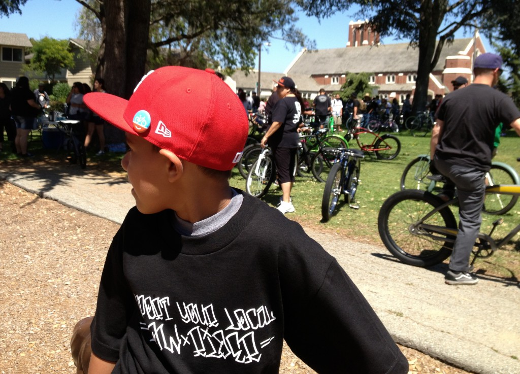 Boy at Burrito Ride 5-19-13 near 1st Pres Salinas