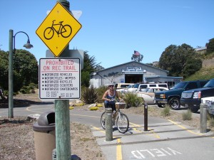 Sign - bike path with cyclist
