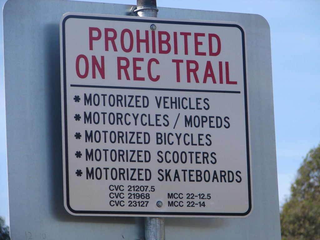 SIGN - prohibit motorized - City of Mtry near Casa Verde (9)