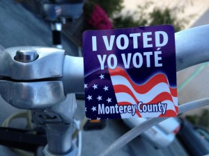 Bicycling Monterey rolls the vote
