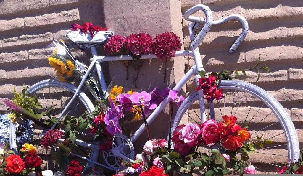 Adrian Garcia's 1st ghost bike - pic courtesy Luciano Rodriguez - cropped