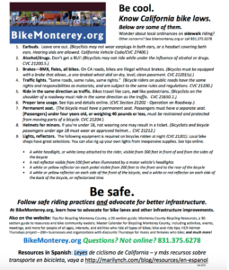 Be Cool Be Safe bike law summary