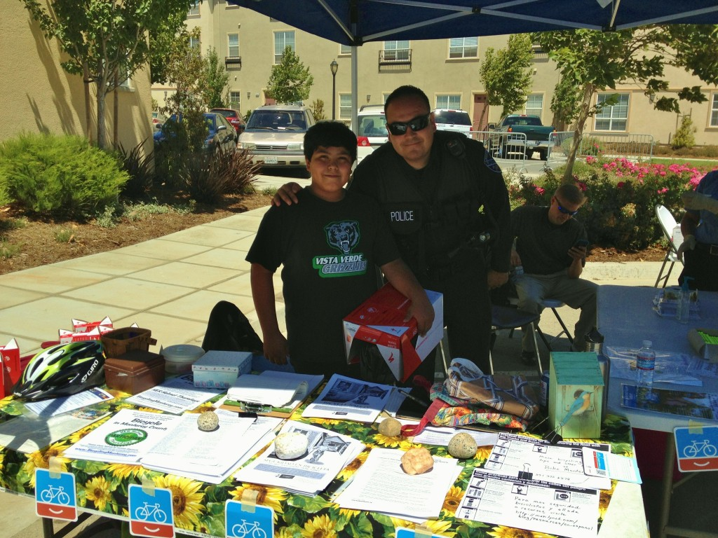 Boy in Vista Verde t with Greenfield PD - fitted for helmet - 2012