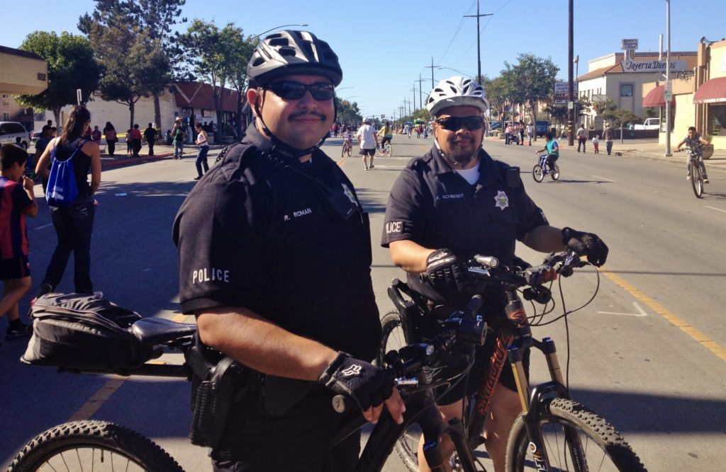 Cops at Ciclovia 2015