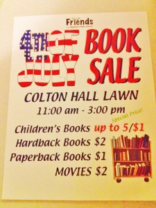 Friends of Library 4 July 2015 sale