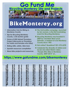 Go Fund Me - Bicycling Monterey - poster