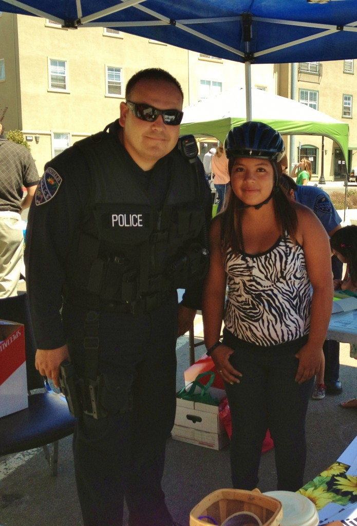 Greenfield PD fitted girl for helmet - zebra shirt