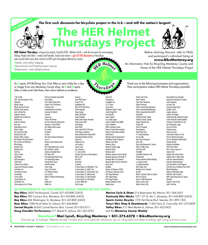 HER Helmet Thursdays 5th Anniversary poster