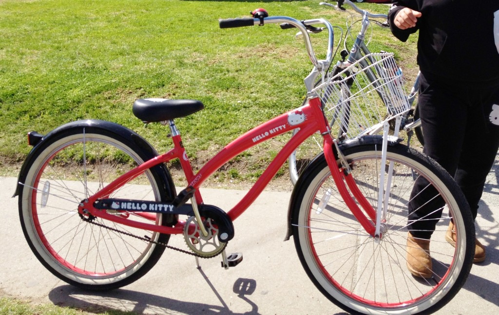 Hello Kitty bike in the Alisal - thanks parents