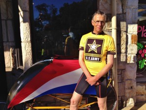 Leo Kodl local avid cyclist and bike advocate rides many types including recumbent