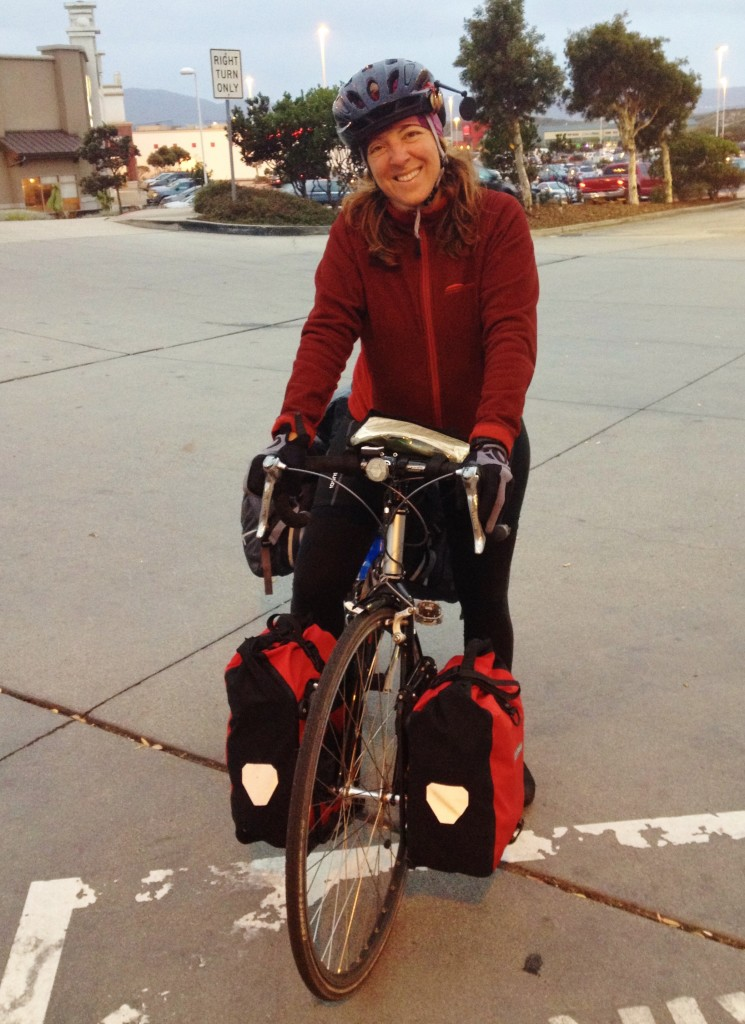 Touring cyclist from Quebec